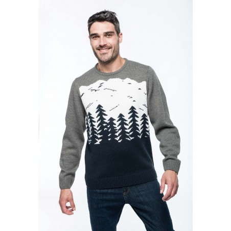 Pull Over motif Sapin
